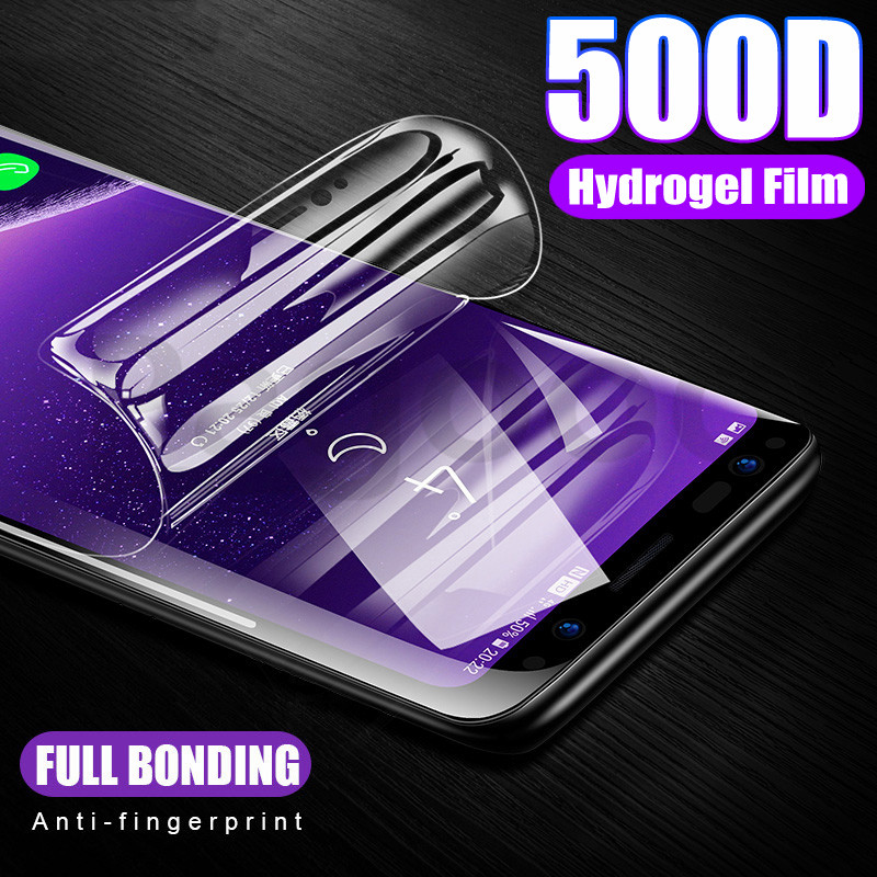 500D Hydrogel Film on the For Samsung Galaxy S8 S9 S10 Plus S7 Edge S10E Screen Protector Safety Film Note 8 9 10 Pro Not Glass