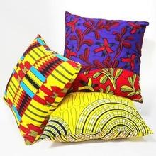 Home Decor Handmade Cotton Cushion Pillow Covers African Print Wax 45x45cm