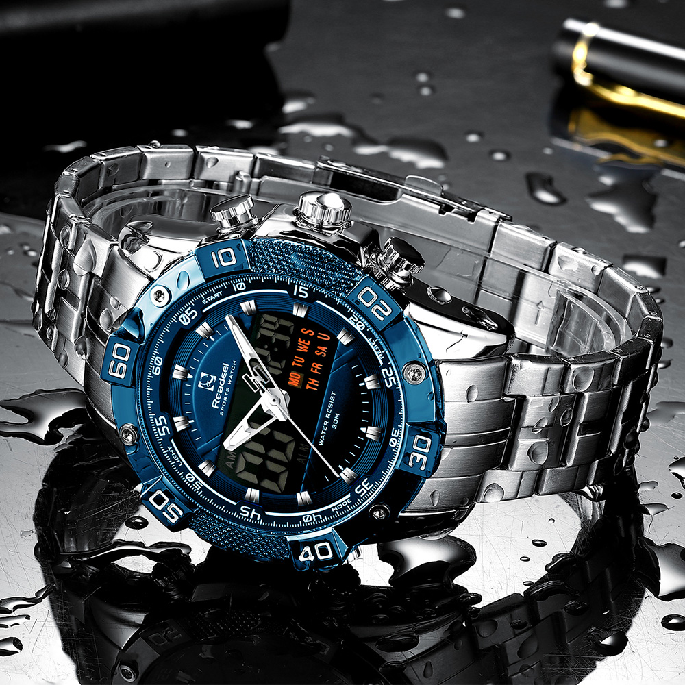 2020 Luxury Brand Waterproof Military Sport Watches Men Silver Steel Digital Quartz Analog Watch Clock Relogios 2020 Luxury Brand Waterproof Military Sport Watches Men Silver Steel Digital Quartz Analog Watch Clock Relogios Masculinos
