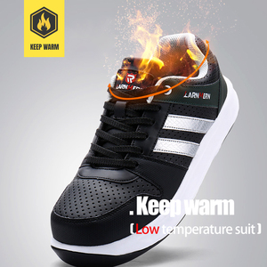 Image 5 - MODYF Men Safety Shoes Steel Toe Work Shoes Flats Casual Protective Footwear Sneaker