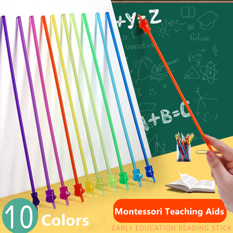 Teaching Material Pointer Finger Reading Stick Preschool Teaching Tool Bendable Stick Montessori Teaching Aids, Children's Toys