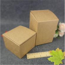 5pcs Small Kraft paper gift packaging box,square kraft cardboard handmade soap candy box,DIY white wedding craft box