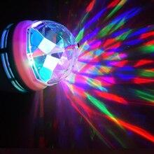 Разноцветная 3W RGB светодиодная лампа Е27 переменного тока 85-265В 110В 220В с вращающейся крышкой