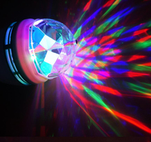Full Color 3W 6W Rgb Led Lampen E27 Lampada Led Lamp Ac 85 265V 110V 220V Auto Draaiende Podium Verlichting Projector Voor Dj Party Show