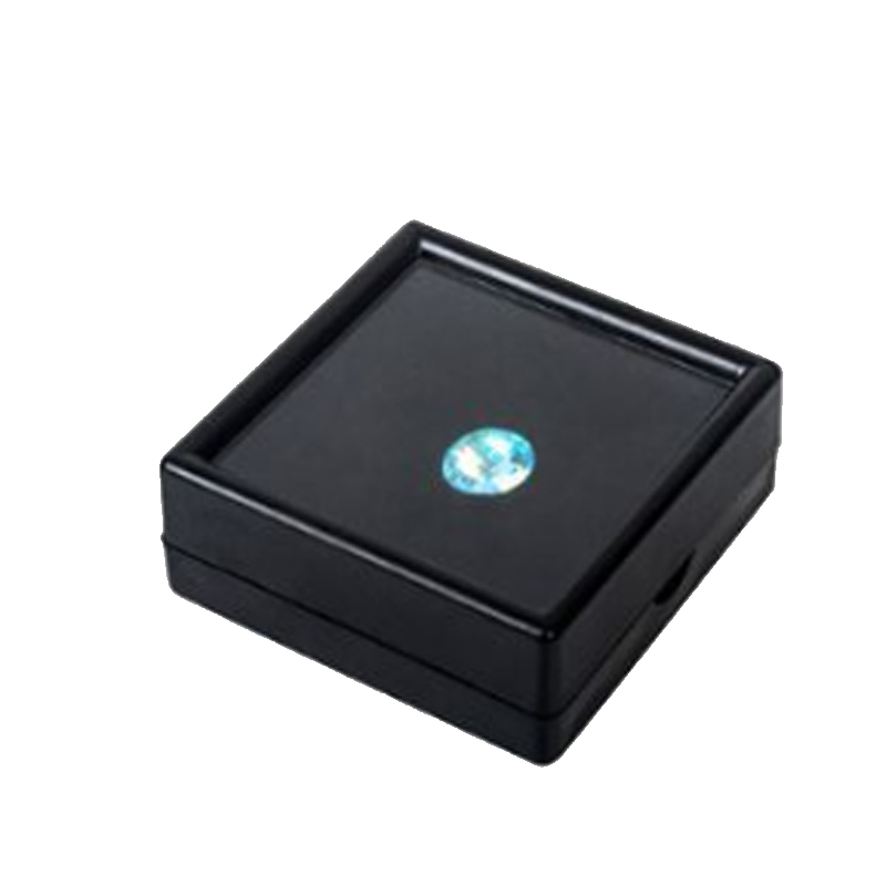 Wholesale Square Gemstone Diamond Jewelry Display Box Loose Diamond Holder Case Plastic Gem Showcase Container White & Black