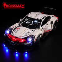 BriksMax Kit d'éclairage pour Technic série Porsche 911 RSR blocs de construction compatibles avec 42096 (modèle non inclus)