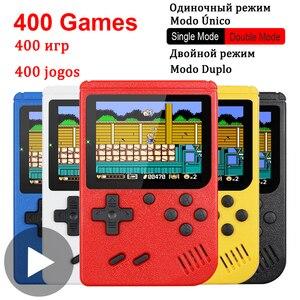 8 Bit Handheld Portable Retro TV Video Game Console Gaming Mini Arcade Smart Videogames Machine Vidio 8bit Gamepad 400 in 1 Play