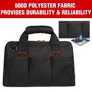 Image 3 - WORKPRO Bolsa de herramientas impermeable para hombre, bolso de viaje, cruzado, de gran capacidad, Envío Gratis, 4 tamaños (12, 14, 16 y 18 pulgadas)