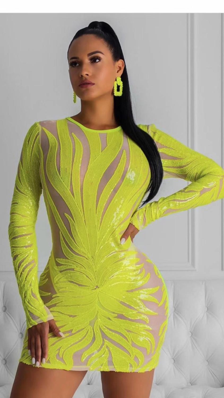2019 искусственный шелк элегантные женские дизайнерские вечерние платье Зимний стиль сексуальное платье с длинным рукавом с круглым вырезом