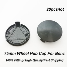 Car Styling 75MM 7.5CM Wheel Rim Center Cap ABS 3 pins Black Base Auto Hub Badge Covers 20pcs/set