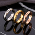 Модное гладкое кольцо из розового золота для мужчин и женщин Эксклюзивное свадебное кольцо для пар высококачественные простые кольца ювел...