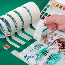 15m Long Masking Tape White Drawing Writing Decoration Adhesive Tape Washi Tape for Art Sketch Oil Painting School Office Supply