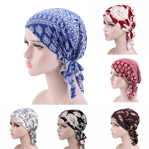 Женская коса тюрбан Кепка Chemo Beanie шарф для выпадения волос мусульманский тюрбан с цветком шляпа хиджаб головной убор