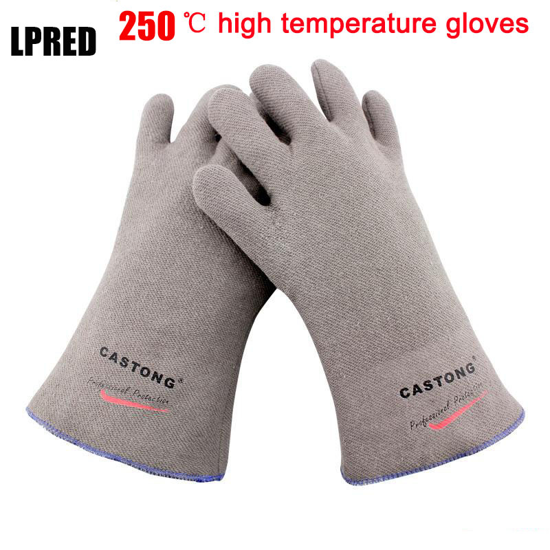 250 Degrees Heat Insulation Gloves High Temperature Resistant Gloves To Hot Flame Retardant Anti-scald Fire Aramid Fiber Woven