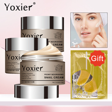 Yoxier 3Pcs/Lot Peony Nourishing Snail Cream Anti-Aging Face Cream Wrinkle Whitening Moisturizing Oil Control Skin Care