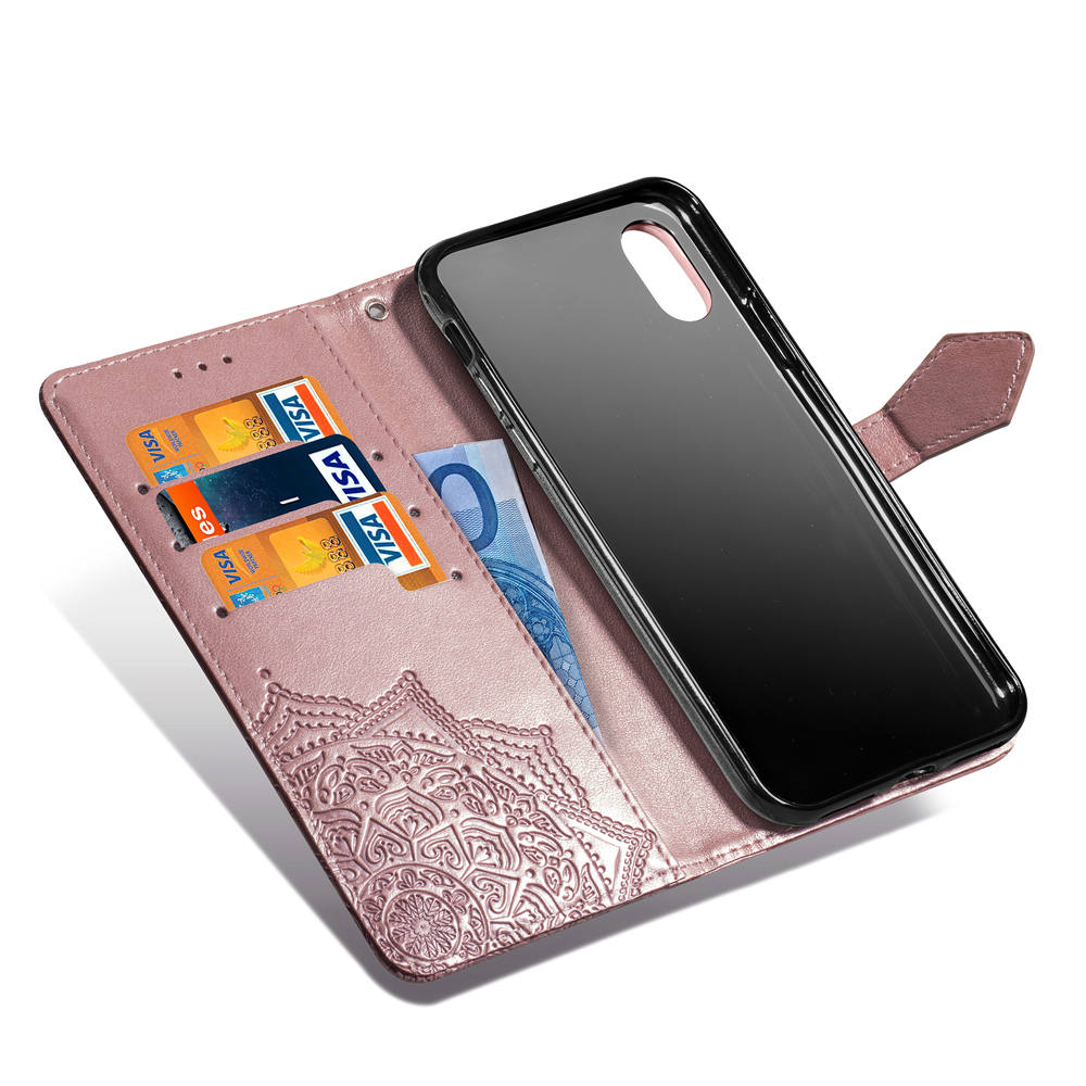 For iPhone 11 Pro XS Max XR Leather Phone Case Embossed Flower iPhone X XI Pro For iPhone 11 Pro XS Max XR Leather Phone Case Embossed Flower iPhone X XI Pro 5 5S SE 6 6S 7 8 Plus Wallet Bag Cover Flip Cases