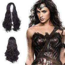 2020 Wonder Woman cosplay Diana Prince New black wig long ha