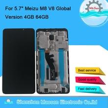 """5.7 """"Meizu V8 Pro 용 기존 M & Sen Meizu M8 M813H 용 글로벌 버전 4GB 64GB LCD 화면 디스플레이 프레임 + 터치 패널 디지타이저"""