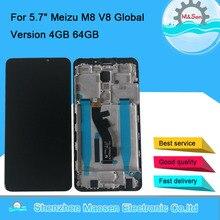 """5.7 """"オリジナルm & セン魅V8プログローバルバージョン4ギガバイト64ギガバイト液晶画面表示枠 + タッチパネルデジタイザ魅M8 M813H"""