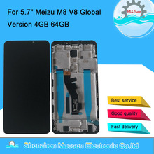 "Original M&Sen For 5.7"" Meizu V8 Pro Global Version 4GB 64GB LCD Screen Display Frame Touch Panel Digitizer For Meizu M8 LCD"