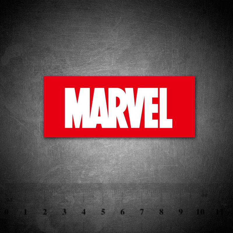 Marvel Comics Company Logo Graffiti Stationery Sticker For Kid Toy DIY Skateboard Laptop Luggage Phone Notebook Stickers