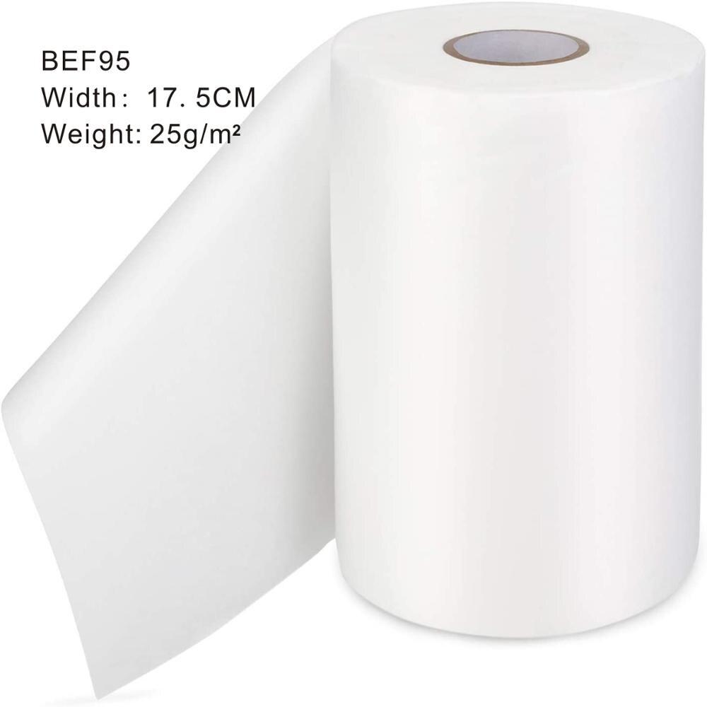 Tela de membrana de grado alimenticio fundido soplado polipropileno filtro de tela BEF95, ancho: 17,5 cm, 25 gramos por metros cuadrados, paquete de 1kg