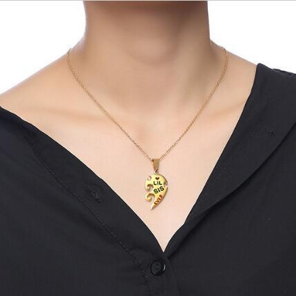 ожерелье женское с подвеской в виде сердца фотография