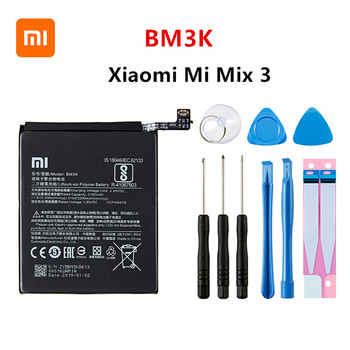 Xiao mi 100% Orginal BM3K 3200mAh battery For Xiaomi Mi Mix 3 Mix3 BM3K High Quality Phone Replacement Batteries +Tools