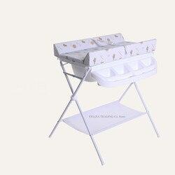 Table de bain multifonctionnelle pour bébé | Table à langer pour nouveau-né avec éponge, organiseur de Station de couches pour nourrissons