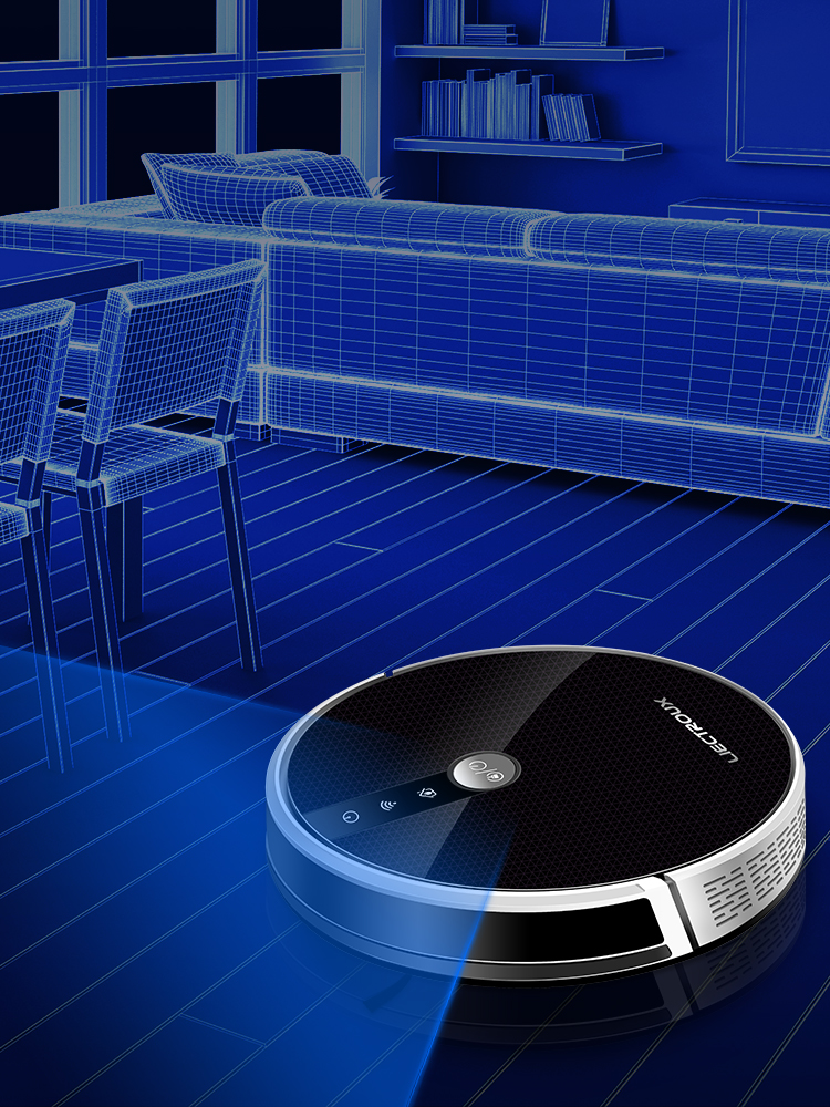 LIECTROUX C30B Robot Vacuum Cleaner Smart Mapping,App & Voice Control,4000Pa Suction,Wet Mopping,Floor Carpet Cleaning,Disinfect