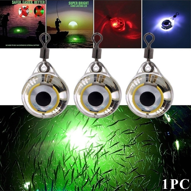 Anti-pressure Fishing Lights Night Fluorescent LED Underwater Night Fishing Light Lure For Attracting Fish LED Fishing Supplies