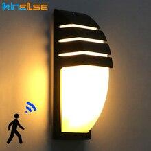 Светодиодный настенный светильник водонепроницаемый крыльцо свет 10 Вт современный настенный светильник AC90~ 260 в радар Датчик движения двор виллы садовое наружное освещение