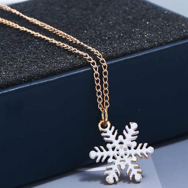 Рождественская елка Санта серьга из снежинки ожерелье кулон Рождественское украшение для дома Рождество Navidad Декор счастливый новый год 2020