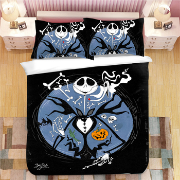 3D Nightmare Before Christmas bedding sets duvet cover sets luxury quilt cover single double queen king white black bedclothes