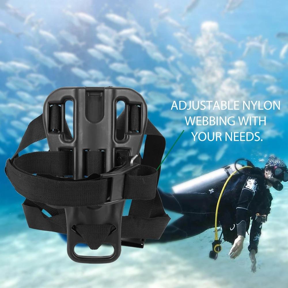 Diving Snorkeling Scuba Oxygen Bottle Holder Tank Cylinder Bracket Backboard