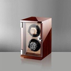 """Image 4 - 2019 חדש יוקרה אוטומטי שעונים תצוגת תיבת שעון אוסף אחסון מקרה שעון ארגונית קופסות מחזיק שעון אלונקות Plug ארה""""ב"""