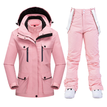 Women's Ski Suit Waterproof Windproof Skiing and Snowboarding Thick Warm Jacket Pants Sets Female Snow Costumes Outdoor Wear