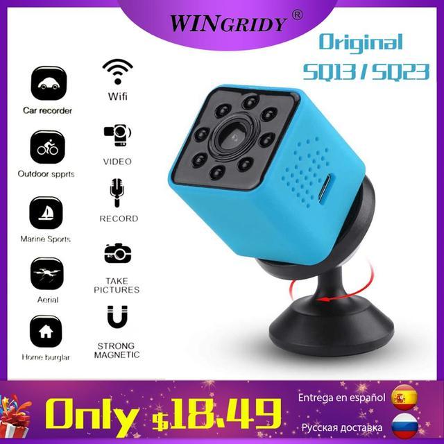 Original SQ23 sq13 WiFi Cam Mini Camera Camcorder Full HD 1080P Sport DV Recorder 155 Night Vision Small Action Camera DVR SQ11