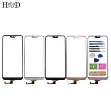 Tela de toque para huawei p20 lite, digitalizador touchscreen, painel de vidro frontal, sensor para huawei nova 3e, ferramenta de tela sensível ao toque cola,