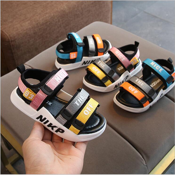 2020 Summer Children Sandals Boys Shoes For Kids Toddler Soft Anti-slip Beach Sandals Baby Girls PU Leather Casual Flat Sandals