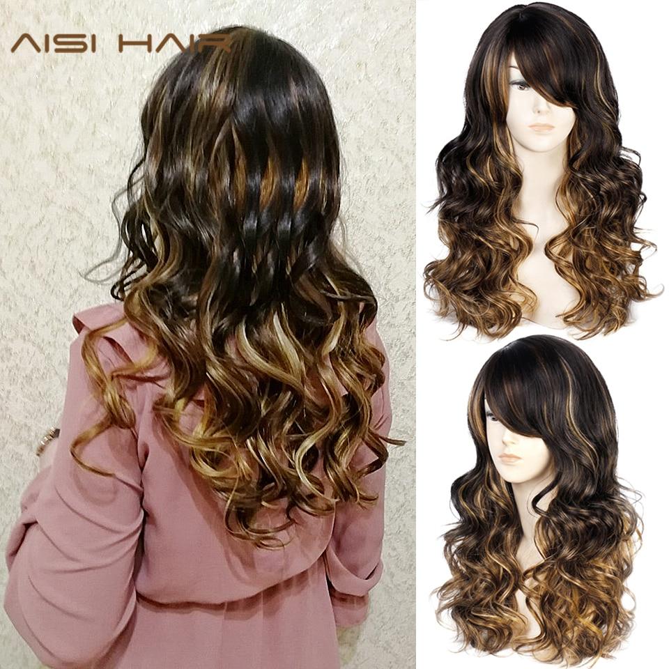 Long Lavy Black Red Hair Mix Color Women Wigs Heat Resistant