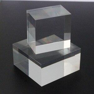 3X3CM Clear Acrylic Plastic Display BLOCK Cosmetics Jewelry Base Crystal Box Booth Plexiglass Floor Jewelry Display Stand