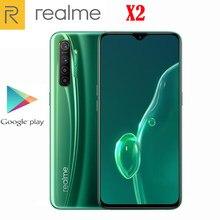 Новый оригинальный официальный сотовый телефон Realme X2 6,4 дюймов Супер AMOLED Android 9,0 Восьмиядерный Snapdragon 730G 4 задние камеры 4000 мАч NFC