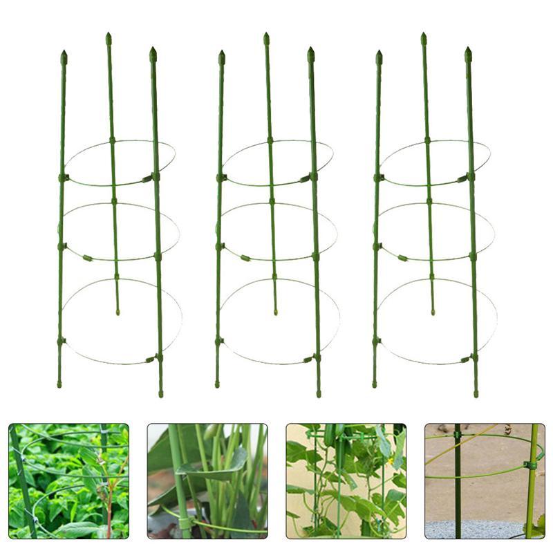 3 комплекта завод Поддержка клетки садовые столбы томатный лоза клетки Поддержка s из мешочного тика для сада и огорода
