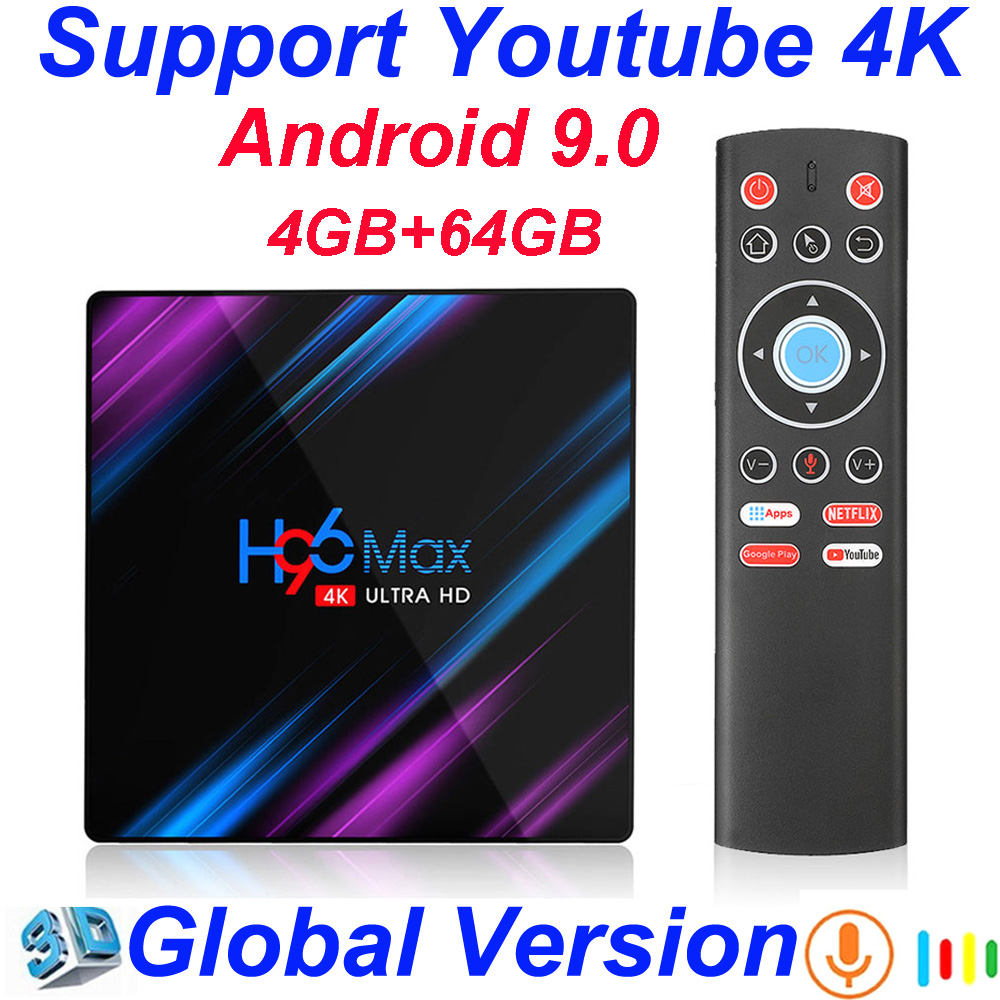 H96 MAX RK3318 Smart TV Box Android 9.0 4GB 32GB 64GB Media player 4K Google Voice Assistant Netflix Youtube H96MAX 2GB16GB|Set-top Boxes| |  - title=