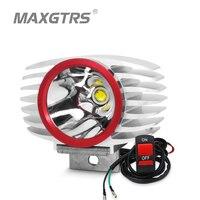 MAXGTRS Motorrad LED Scheinwerfer 15W 2250Lm Auto Plus Nebel DRL Licht für Roller/E-bike/Lkw /ATV/UTV/SUV/Motorrad Scheinwerfer