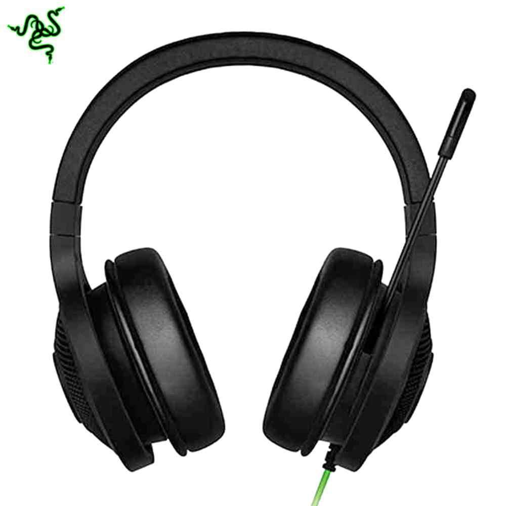 Razer kraken Essential standardowe słuchawki izolacja hałasu słuchawki douszne przewodowy zestaw słuchawkowy do gier analogowe 3.5mm USB z mikrofonem do gier LOL