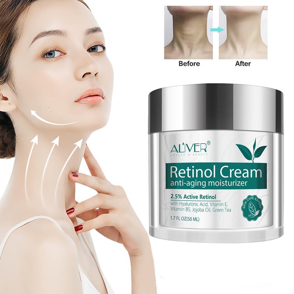 ALIVER Retinol Hyaluronsäure Vitamin EINE Anti Straffende Creme Pflegende Lotion Feuchtigkeits Creme V1Q4