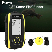 Eyoyo E4 przenośny lokalizator ryb 0.6 72m Sonar LCD echosonda s echosonda echosonda do łowienia głębszy inteligentny sonar chirp