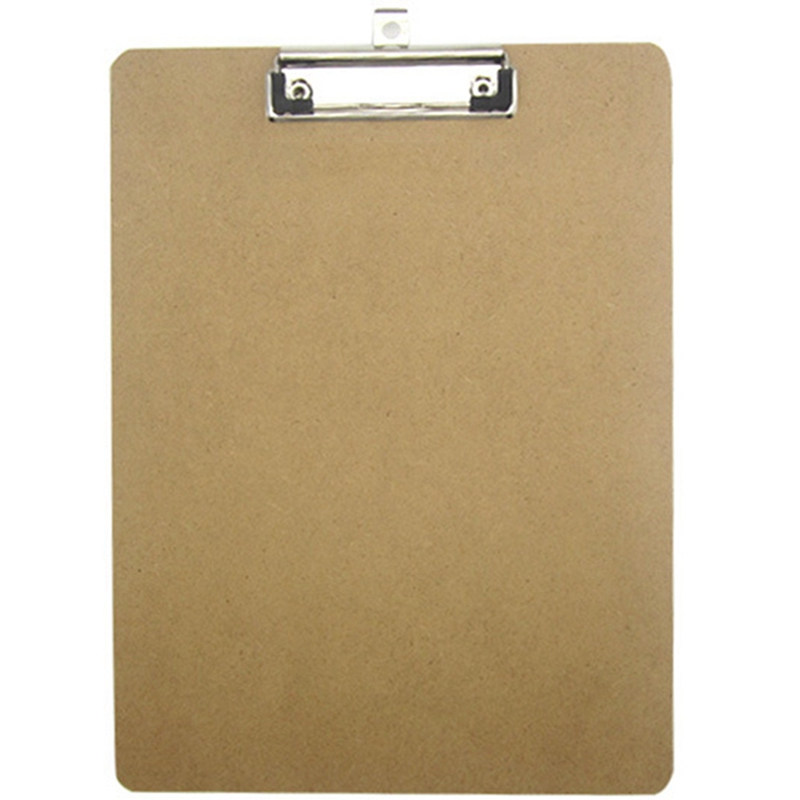 Portable A4 Wooden WritingClip Board File Hardboard With Batterfly Clip For Office School Stationery Supplies Office Specific